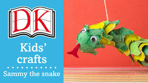kids u0027 craft sammy the egg carton snake youtube