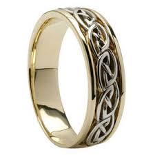 mens celtic knot wedding ring made in ireland by shanore