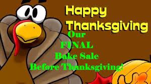 sfac thanksgiving 2014 bake sale ad