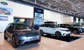 land rover velar blue range rover velar arrives in the uae arab motor world