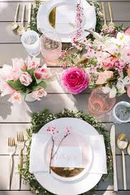 Spring Decorating Ideas For The Home Beautiful Spring Decoration For The Table Pale Pink Flower