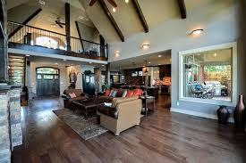 open floor house plans with loft rustic mountain house floor plan with walkout basement craftsman