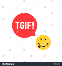 toast emoji yellow drunk emoji tgif logo like stock vector 613108226