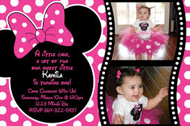 Invite Card Maker Minnie Mouse Birthday Party Invitations Birthday Card Invitations