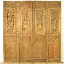 carved cabinet door panels antique chinese set of 4 carved elm wood panels w birds game