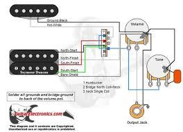 1 humbucker 1 single coil 3 way lever switch 1 volume 1 tone 02