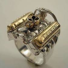 rings car engine images Jewelry for gearheads engines pinterest rings jewelry and jpg