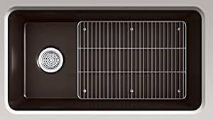 what is minimum base cabinet width kohler k 8206 cm2 cairn mount single bowl kitchen sink with basin rack 33 1 2 x 18 5 16 x 9 1 2 matte brown 36 minimum base cabinet width