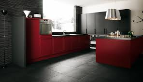 exciting modern glisten burgundy paint wooden kitchen cabinet