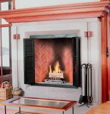 fireplace firebrick panels interior design