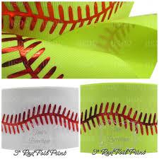 softball ribbon usdr 3 ribbon by the yard softball ribbon cheer bow