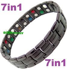 magnetic bracelet with germanium images Titanium magnetic energy germanium armband power bracelet bio 7in1 jpg