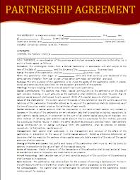 4 free partnership agreement templatereport template document