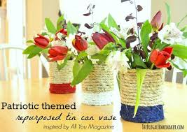 Flower Vase Crafts Diy Repurposed Tin Cans Into Flower Vases Recycled Things