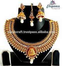 indian jewelry necklace sets images Laxmi temple jewelry south indian necklace set one gram gold jpg