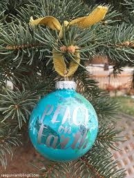 peace on earth marbled painted ornaments tutorial gun ramblings