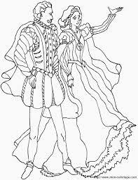 Coloriage De Princesse Et Prince Dessin Le Roi Et La Reine  AZ