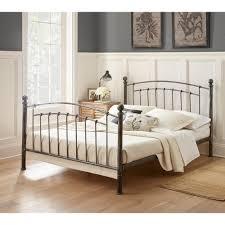 Antique Finish Bedroom Furniture Rest Rite Antique Copper Chrome Platform Bed Rr35420db