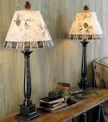 pinecone buffet lamp