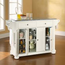 kitchen alexandria kitchen island with solid granite top in