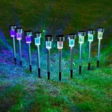 decorative outdoor solar lights 10pcs lot stainless steel solar lawn light for garden decorative 100