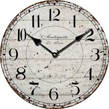 home decor vintage antique wooden wall clock modern design shabby