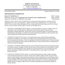 Professional Experience Resume Examples by Federal Resume Sample And Format The Resume Place