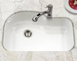 Houzer Porcelain Enameled Steel Kitchen Sinks - White single bowl kitchen sink