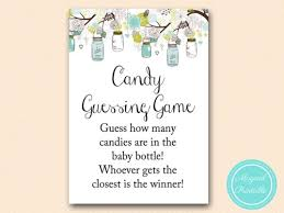 baby shower guessing candy guessing in jar rustic jars baby shower