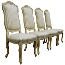 Dining Chair On Sale 4 Carved Swedish Rococo Or Louis Xv Style Painted Dining