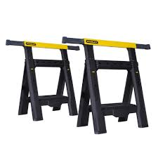 stanley folding work table stanley 31 in 2 way adjustable folding sawhorse 2 pack stst60626