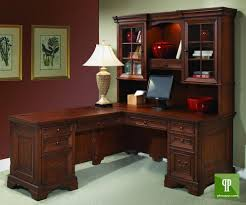 Office Desk With Hutch L Shaped by Furniture Cute Image Of Home Office Decoration Using Maroon Home