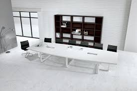 Large Conference Table Large White Contemporary Boat Conference Table Ambience Doré