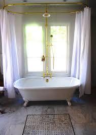 Design Clawfoot Tub Shower Curtain Rod Ideas Ready Made Clawfoot Tub Shower Curtain Rods Clawfoot Tub Shower