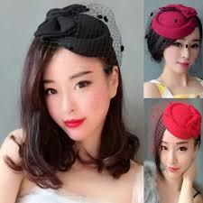retro hair accessories woman headdress hair retro veil ceremony hat headdress bow