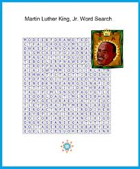 martin luther king word search