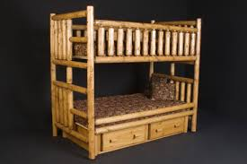 log bunk beds with drawers rustic log beds with drawers
