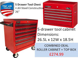 Tool Cabinet On Wheels by Tm Us Pro 26