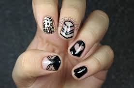 blue black and white nail designs images nail art designs