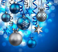 blue and silver ornaments other abstract background wallpapers