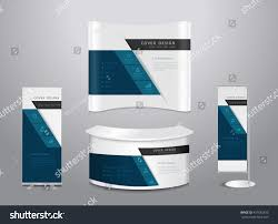 exhibition stands vector illustration modern layout stock vector
