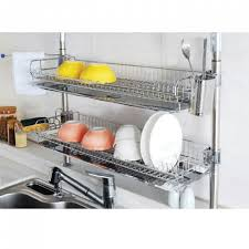 over the sink dish drying rack stainless fixing double shelf dish drying rack drainer dryer tray