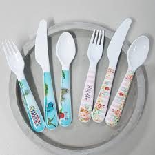 personalised melamine kids dinner set spatz mini peeps