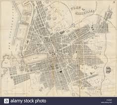marseilles map marseilles town city plan c1879 antique map stock photo