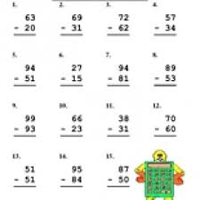 double digit subtraction worksheet subtraction worksheets