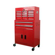 foxhunter metal tool box chest cabinet storage organizer cart