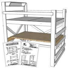 Bed Loft With Desk Plans by Free Plans
