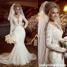 custom made wedding dress custom made sleeves lace mermaid wedding dress v neck bridal