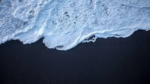 black sand milky water sea wallpaper trending desktop wallpaper