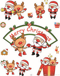 diy christmas stickers decoration for kids santa claus gifts